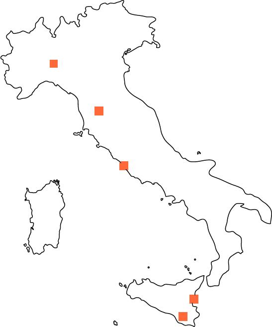 Mappa filiali Consorzio In&Out